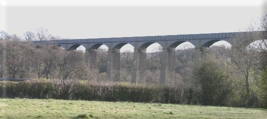 The Pontcysyllte Aqueduct on the Llangollen canal in Wales